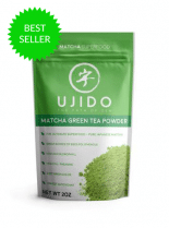 a pack of ujido matcha green tea powder