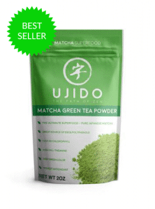 a pack of ujido matcha green tea powder