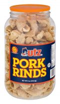 a big container of utz pork rinds
