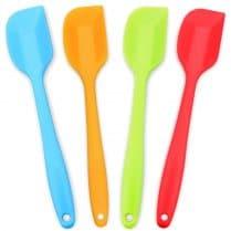 4 colorful silicone spatulas