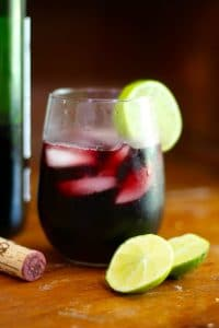 low carb red sangria with lime