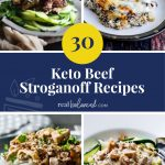 30 Keto Beef Stroganoff Recipes round up pinterest graphic