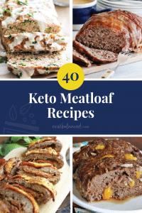40 Keto Meatloaf Recipes pinterest image