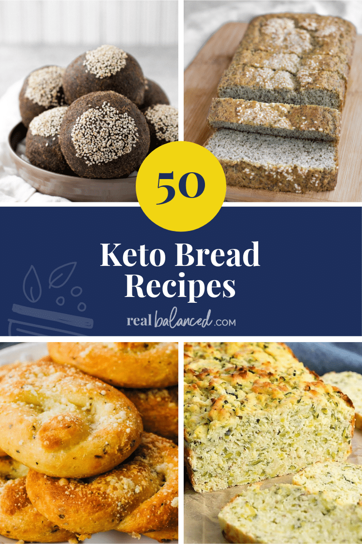 50 Keto Bread Recipes pinterest image