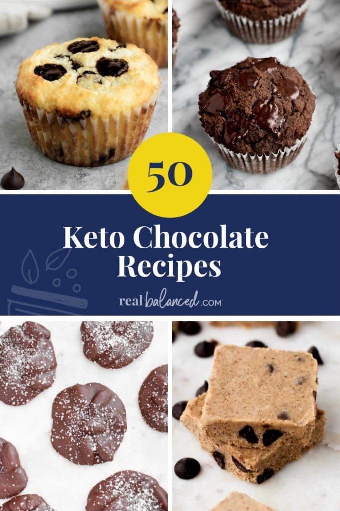 50 Keto Chocolate Recipes pinterest image