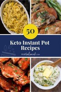 50 Keto Instant Pot Recipes pinterest image