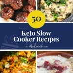 50 Keto Slow Cooker Recipes pinterest image