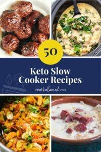 50 Keto Slow Cooker Recipes pinterest image