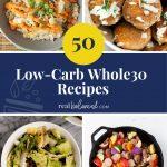 50 Low-Carb Whole30 Recipes pinterest image