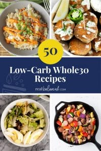 50 Low-Carb Whole30 Recipes pinterest image