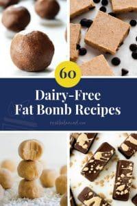 60 Dairy-Free Fat Bomb Recipes pinterest image