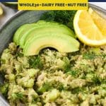 Avocado Tuna Salad pinterest pin image