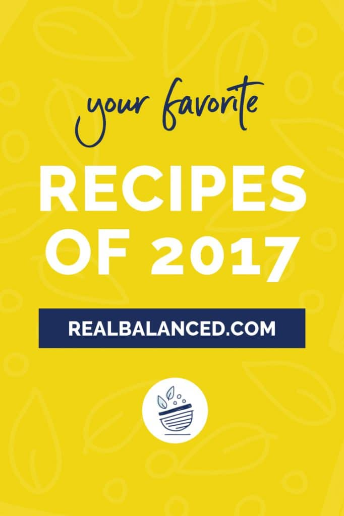 Your Favorite Recipes of 2017 blog post pinterest pin