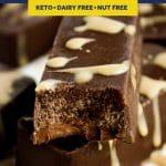 Chocolate Bar Fat Bombs recipe pinterest image