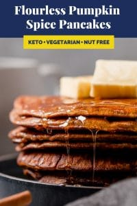 Flourless Pumpkin Spice Pancakes Recipes Pinterest Image