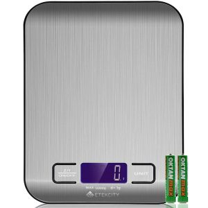food scale Etekcity silver digital kitchen scale