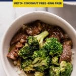 Instant Pot Beef and Broccoli recipe pinterest image