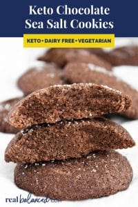 Keto Chocolate Sea Salt Cookies recipe pinterest image