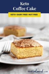 Keto Coffee Cake recipe pinterest image