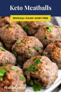Keto Meatballs recipe pinterest image