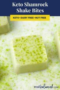 Keto Shamrock Shake Bites recipe pinterest image