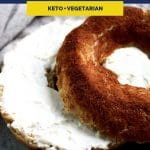 Low-Carb Cinnamon Sugar Bagels recipe pinterest image