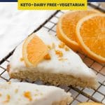 Low-Carb Glazed Orange Scones recipe pinterest image