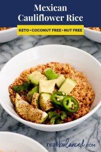 Mexican Cauliflower Rice recipe pinterest image