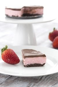 Low Carb Keto Chocolate Strawberry Cheesecake for Two