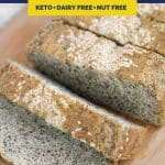 Nut-Free Keto Bread recipe pinterest image