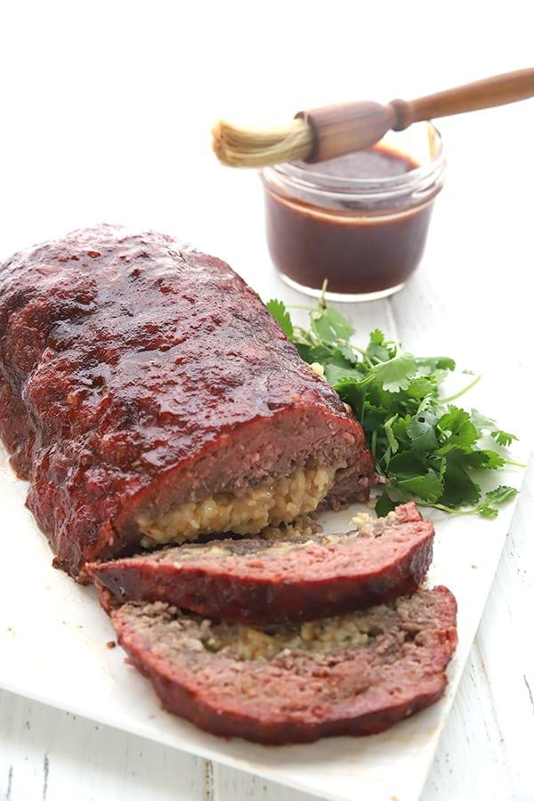 Pepper Jack Stuffed Meatloaf
