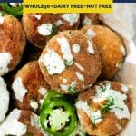 Spicy Salmon Poppers recipe pinterest image