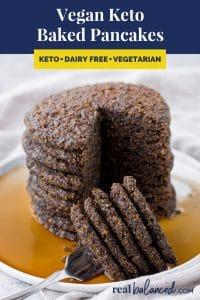 Vegan Keto Baked Pancakes recipe pinterest image