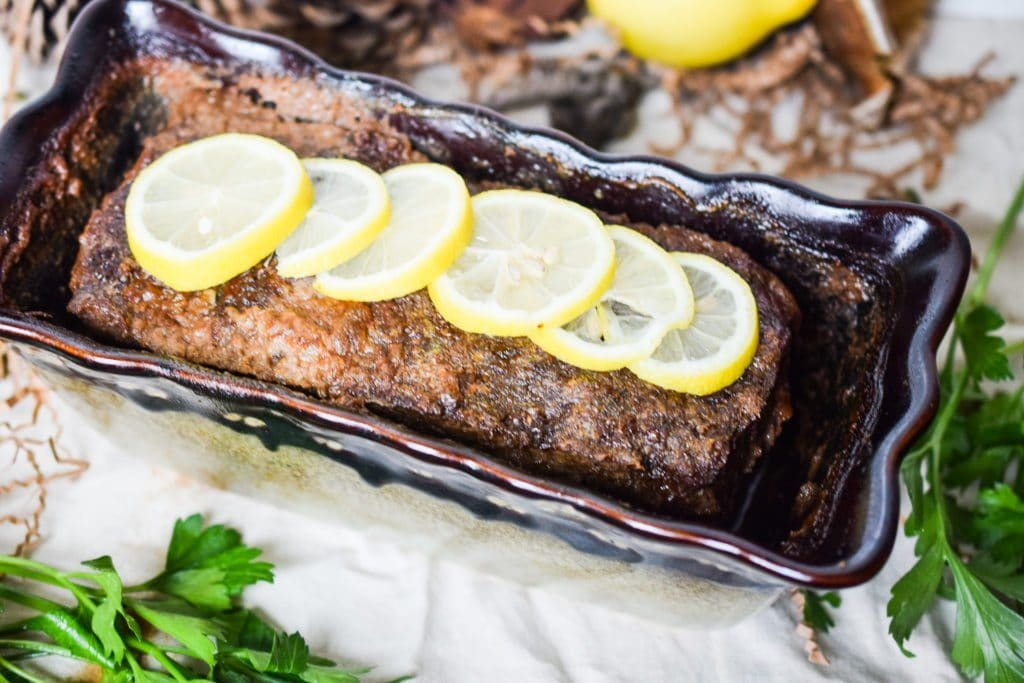 Delicious Lemon Herb Low Carb Keto Meatloaf