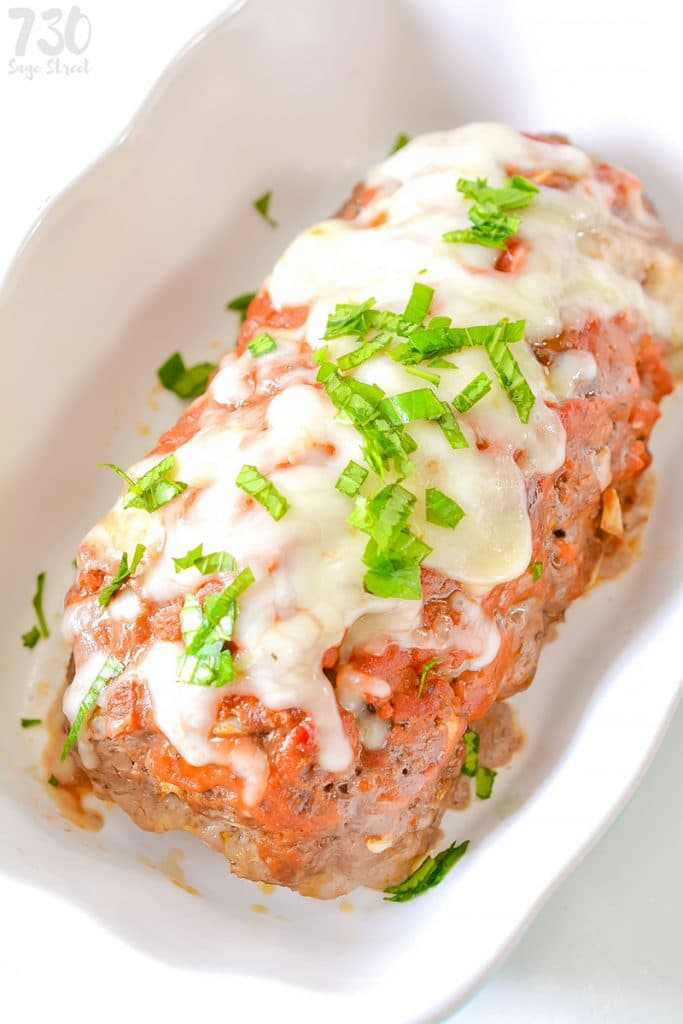 Cheese Stuffed Low Carb Meatloaf