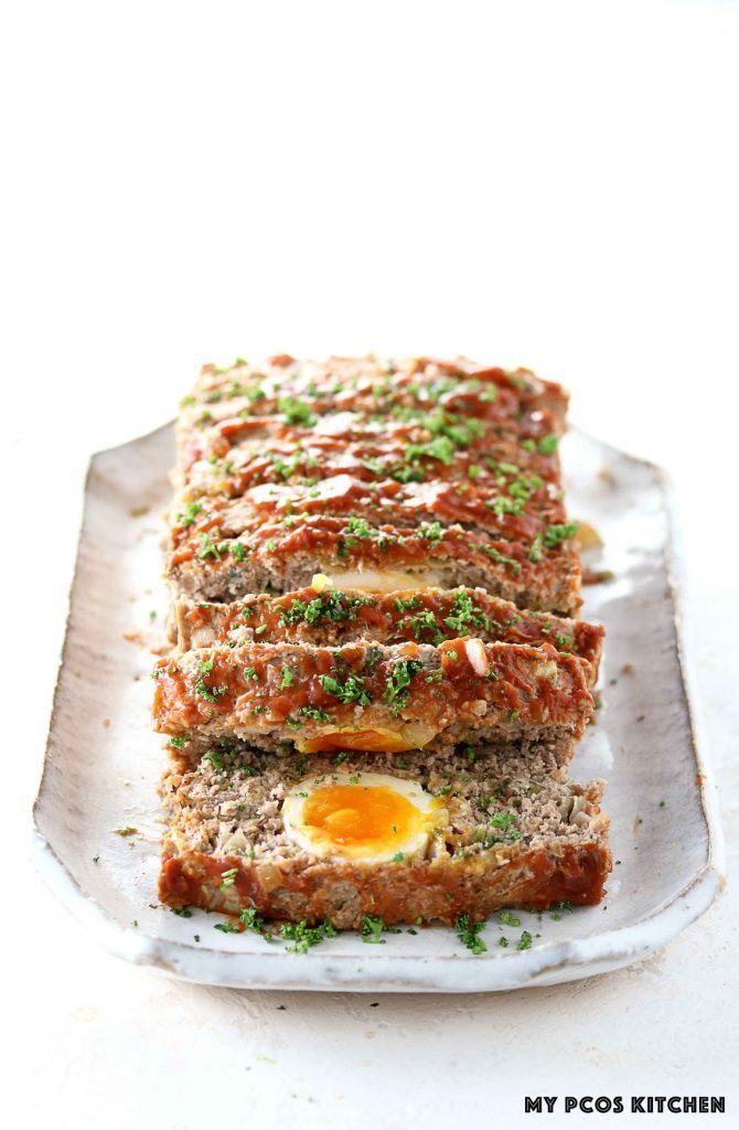 Keto Meatloaf with Eggs