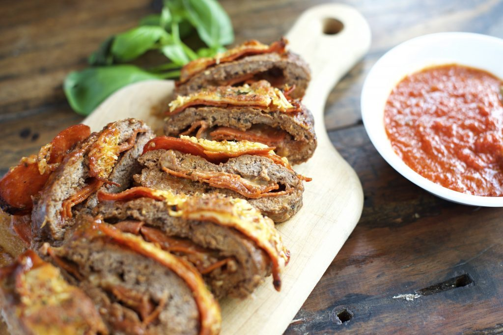 Low-Carb Pizza Stuffed Meatloaf