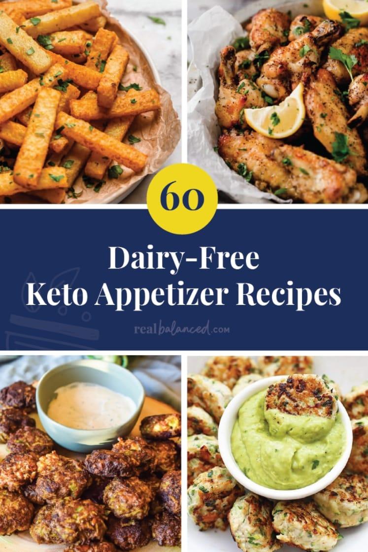 60 Dairy-Free Keto Appetizers recipe roundup pinterest image