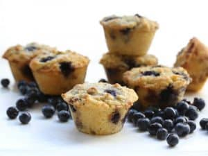 Bakery Style Low carb blueberry muffins