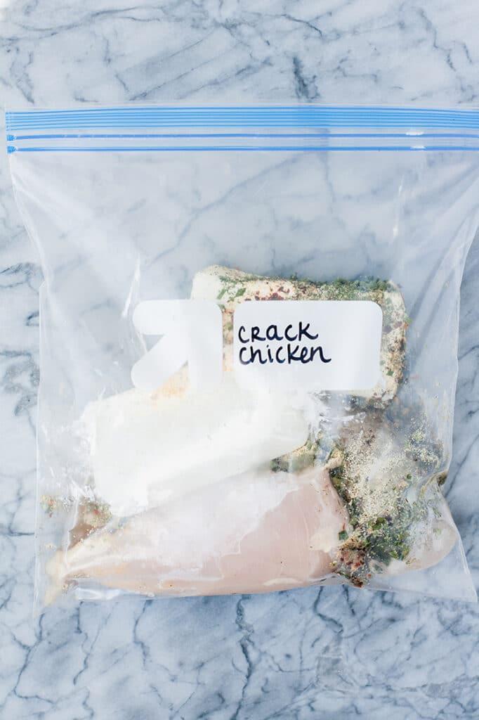 crack-chicken-marinating-in-freezer-bag