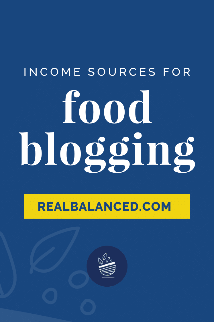 Income Sources for Food Blogging pinterest image