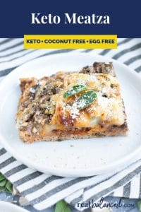 Keto Meatza recipe pinterest image