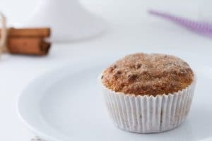 keto snickerdoodle muffins on a small plate
