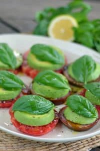 easy avocado caprese