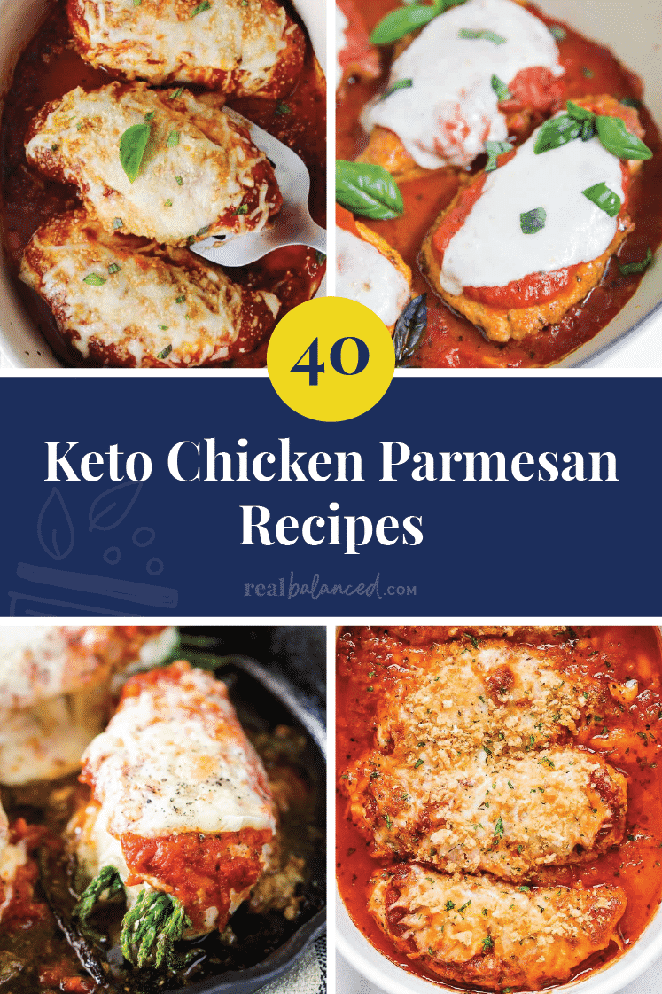 40 Keto Chicken Parmesan Recipes pinterest image