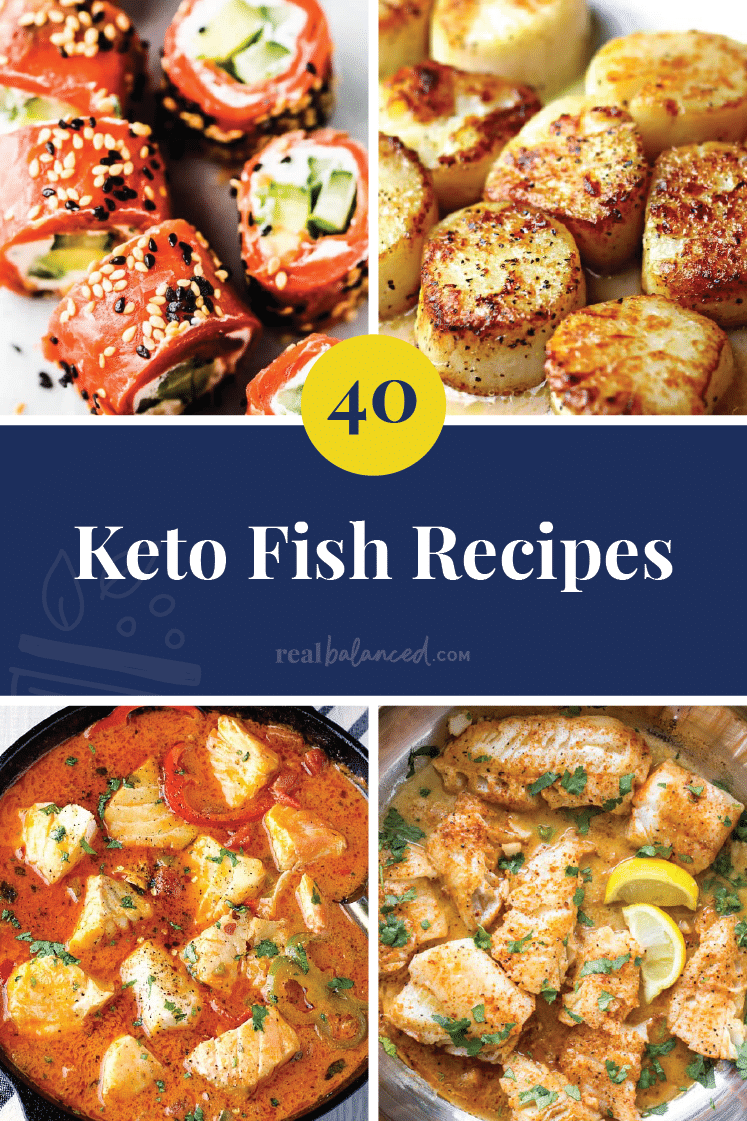 40 Keto Fish Recipes pinterest image