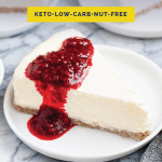 Nut-Free Keto Cheesecake recipe pinterest image