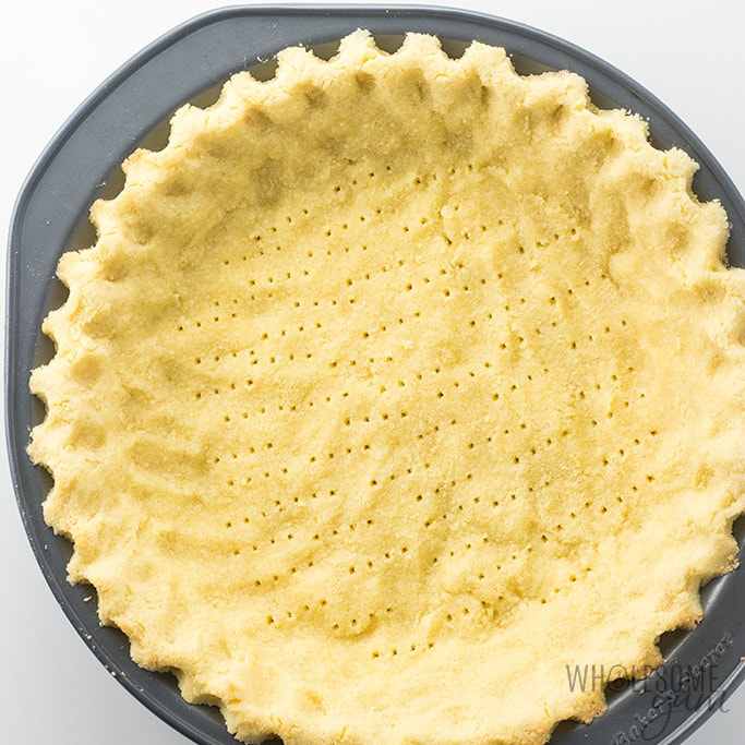 top view of coconut flour pie crust