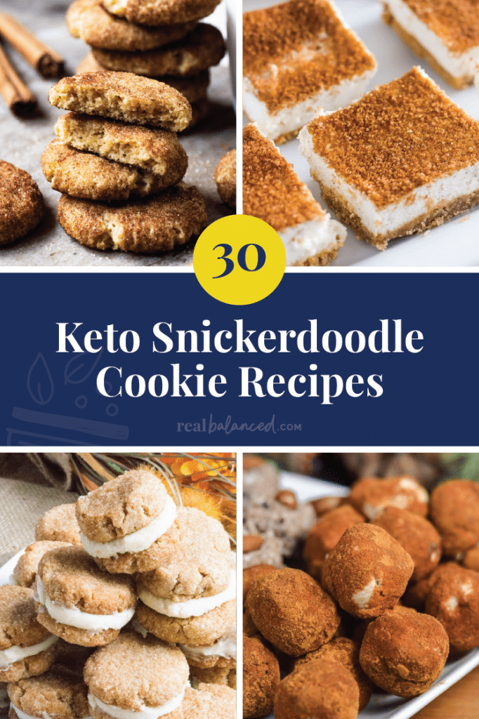 30 Keto Snickerdoodle Cookie Recipes pinterest graphic