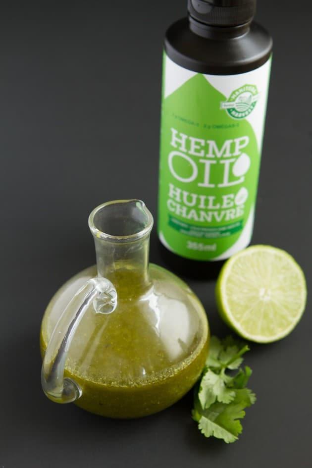 cilantro lime salad dressing with hemp oil